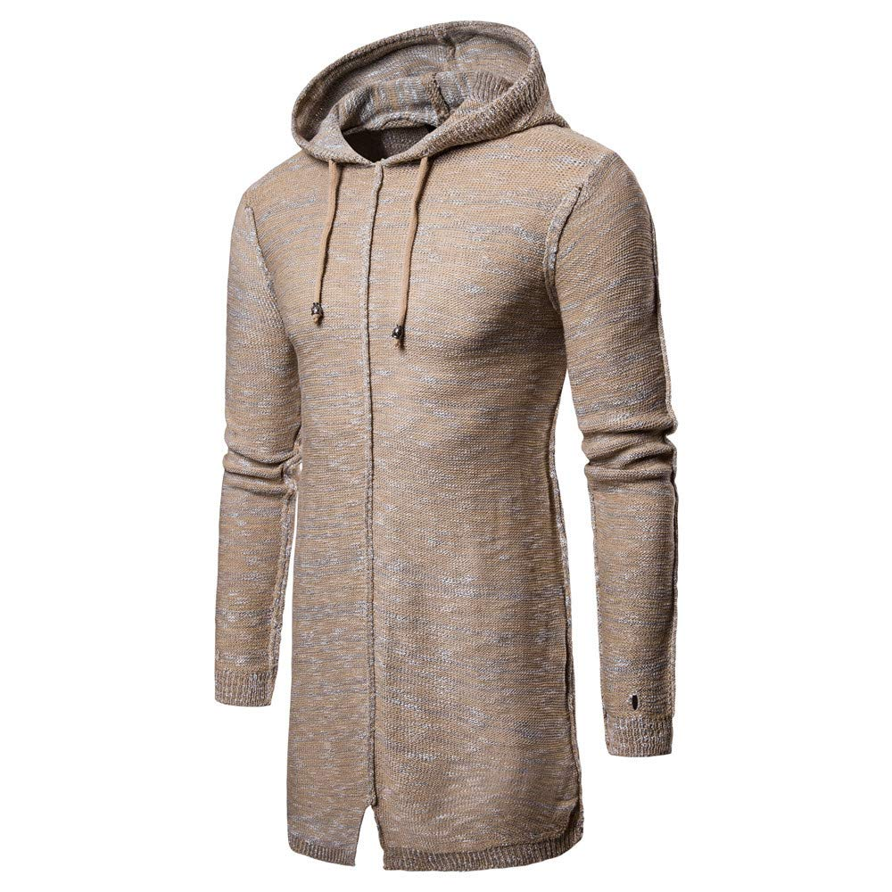 Autumn Winter Hooded Solid Knit Coat Cardigan Long Sleeve PASATO Mens Classic Causal Outwear Blouse New Hot!