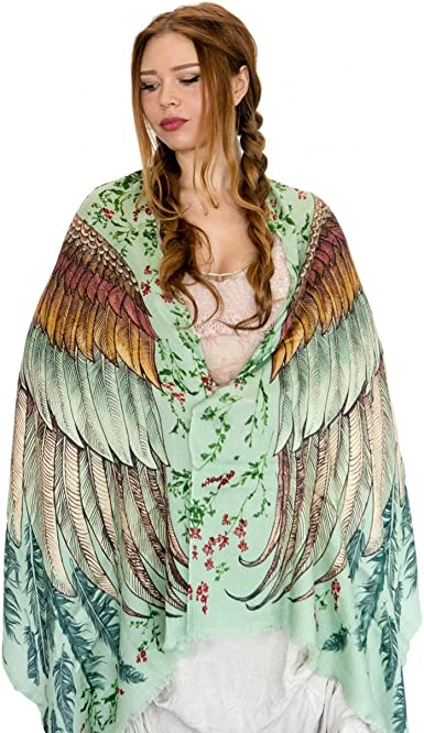 Bird Feathers Printed Scarf