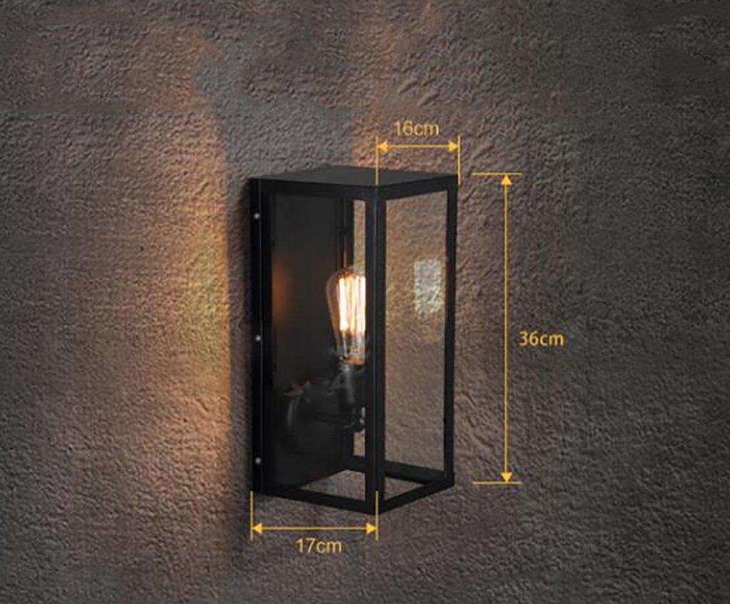 ヴィンテージLOFTウォールランプ鉄レトロパスウェイリビングルームスクエアインダストリアルシングルヘッド壁ガラスガラス屋外用屋外屋外バルコニー ( 色 : 2# ) B07BZXYZ3M 12831  2#