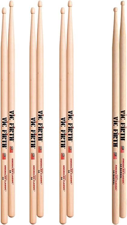 4 Paar Vic Firth 5B Black American Classic Sticks Drumsticks Schlagzeug  **TOP**