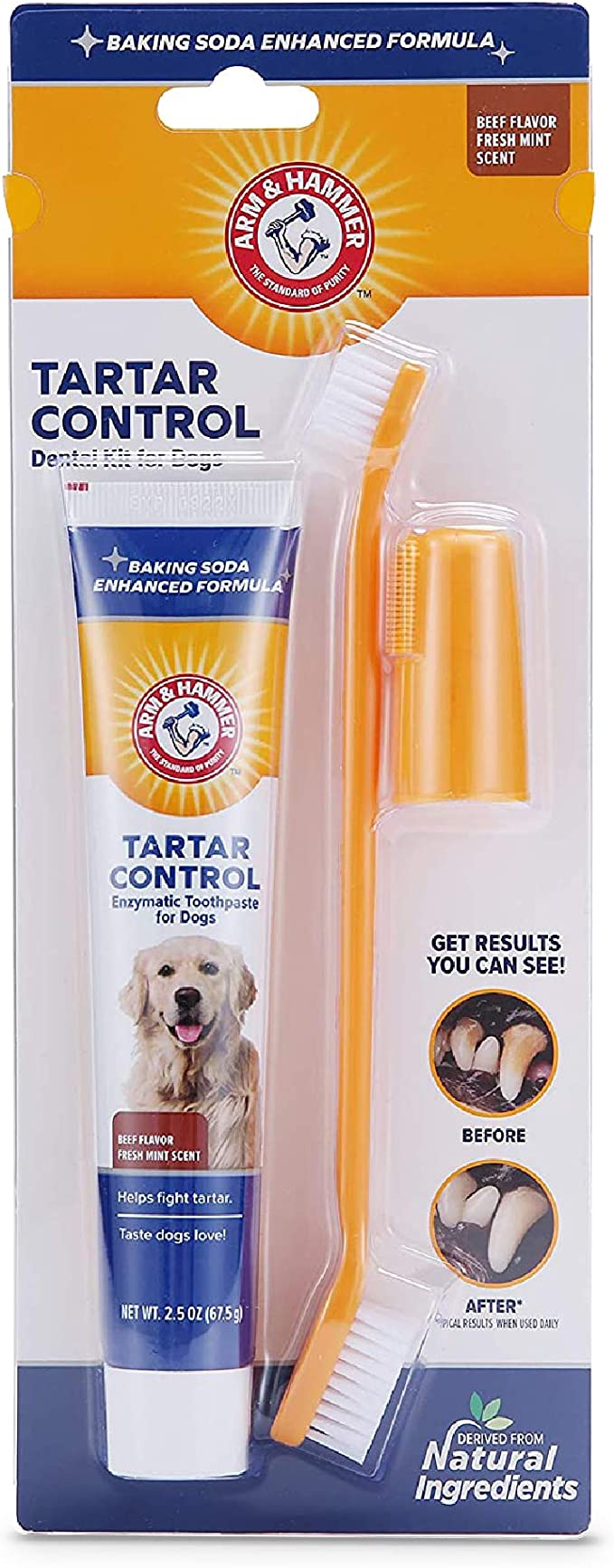 Arm & Hammer for Pets Dog Dental Care Fresh Breath Kit