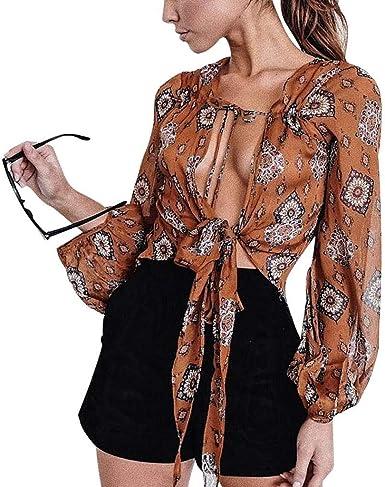 Tops De Mujer Bohemia Shirt T Shirt Vintage Floral Print Ropa ...