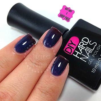 Amazoncom Diy Hard Nails Color Changing Gel Nail Polish Blue