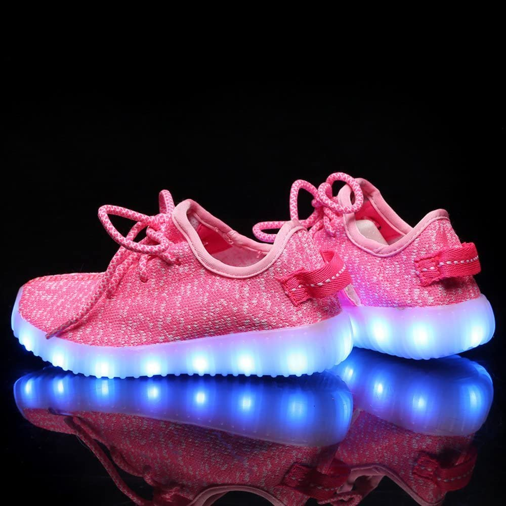 Jedi fight back Boys Girls Kids 7 LED Light Up Luminous Shoes USB Charge Casual Sneakers for Christmas