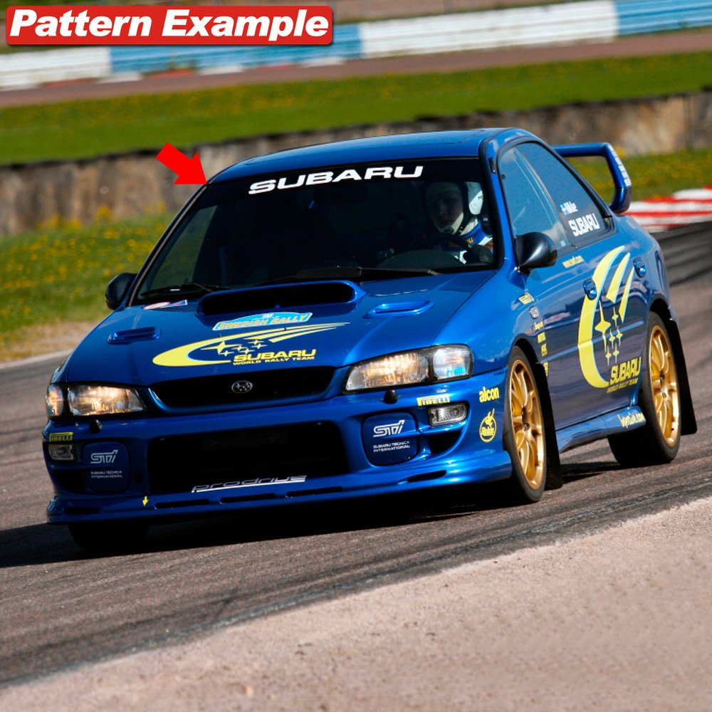 Black Background Demupai Front Windshield Banner Decal Vinyl Car Stickers for Subaru