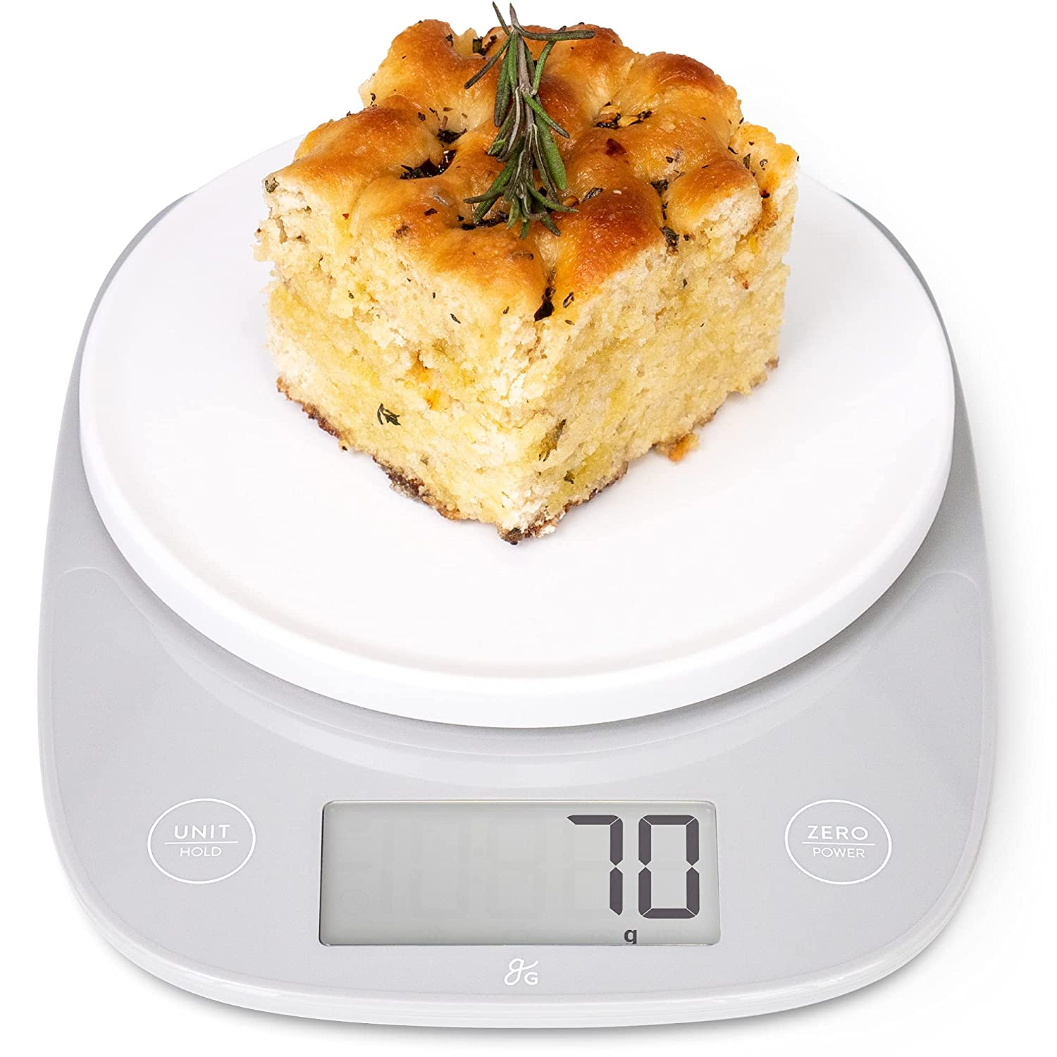 Greater Goods Kitchen Table Top Scale | Our Ultra Accurate Model, Perfect for Weighing Food and Coffee, for Nutrition and Meal Prep | Measures in Grams, Ounces, Milliliters, and Pounds