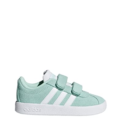 sneakers for cheap 7f72b a1be2 Amazon.com   adidas VL Court Suede Infant Girls Trainer (6.5 M US Toddler,  Blue)   Sneakers