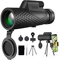 Benewell 12X50 Monocular Telescope, Day and Low Night Vision Waterproof High Power Monocular with Smartphone Holder…