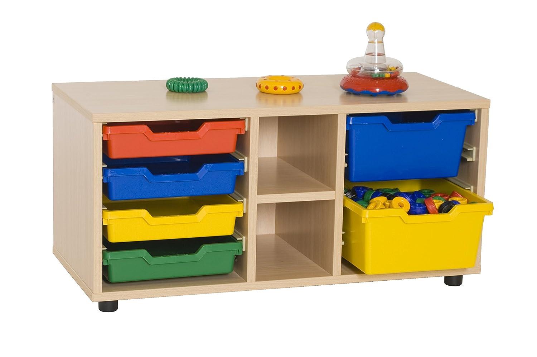 Mobeduc 600112HP18-Mobiletto per Bambini/superbajo libreria cubetero, in Legno, Colore: faggio, Dimensioni 90 x 40 x 44 cm Mobeduc_600112HP18