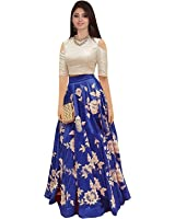Muta Fashions Women's Bangalori Silk Dress Material ( GOWN00051_01_Semi Stitched_Free Size_Blue)