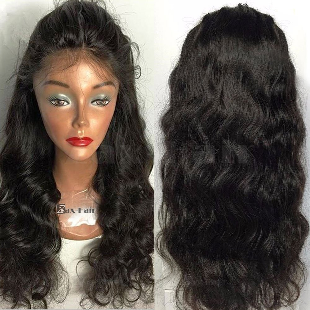 Amazon.com   Zax Silk Top Full Lace Human Hair Wigs Body Wave Silk Top Lace  Front Wig Virgin Hair Glueless Lace Wigs For Black Women 130% Density  Natural ... b4daeef33
