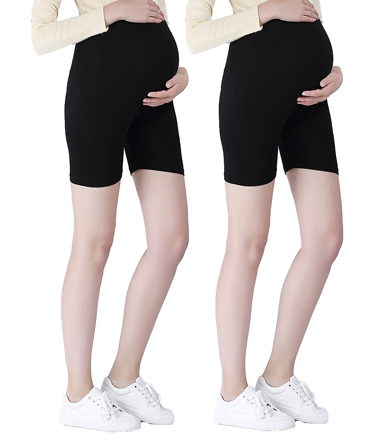 Liang Rou Maternity Thin Spandex Short Safety Leggings Black Baifu International Limited PL8830-$P