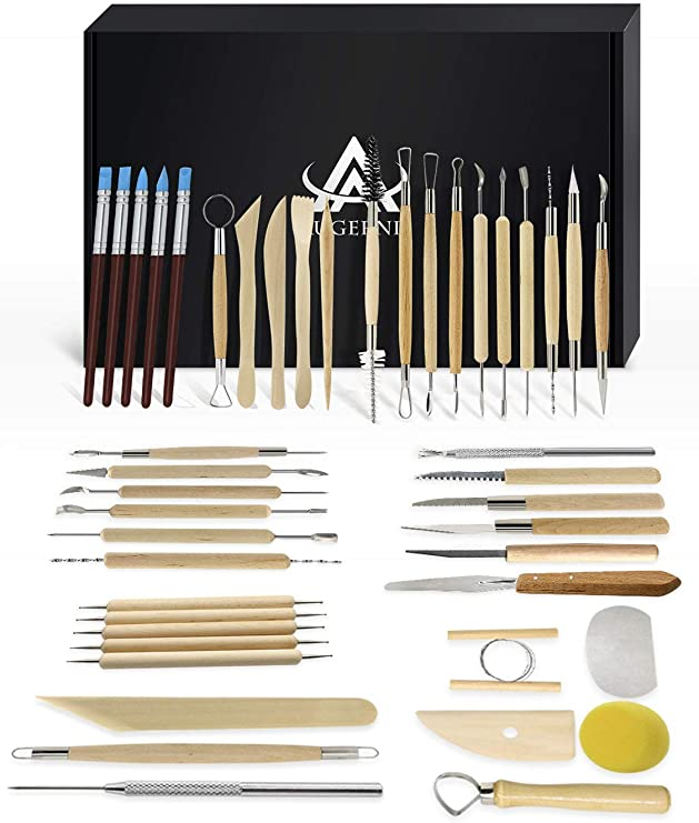 8Pcs//Set Professional Clay Pottery Sculpture Tools Stainless Steel Clays Carving