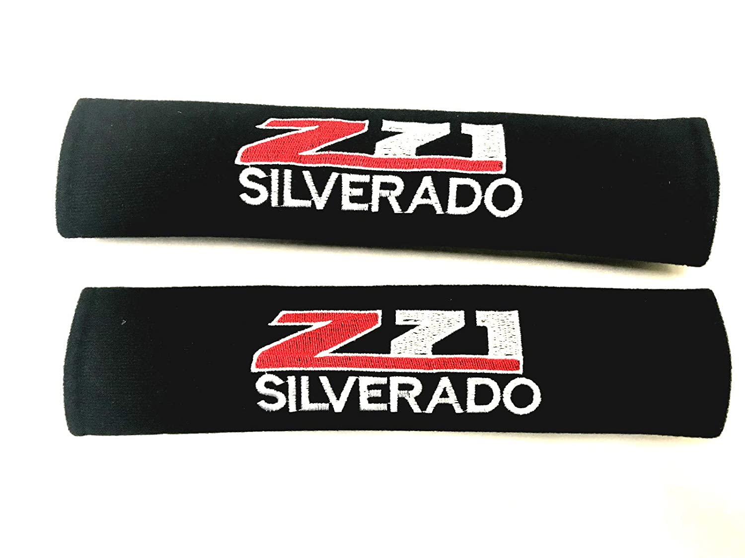 Foxxi Pair Embroidery Chevy Z71 Silverado Sport Cotton Seat Belt Cover Shoulder Pad Cushion Racing