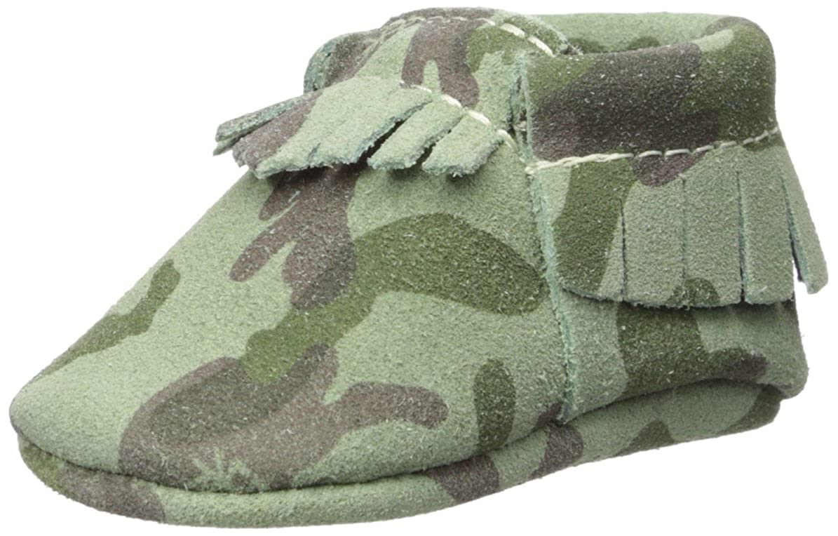 Freshly Picked Baby Soft Sole Moccasins (Infant/Toddler), Green Camo, 3 M Green Camo - K