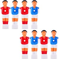 YINASI 8pcs Soccer Foosball Replacements, Foosball Man Table Guys Man Soccer Player Part Blue and Red, 4.2inch