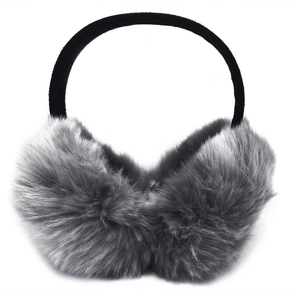 Little Sporter Damen Kinder Mädchen Verstellbarer Winter Ohrenschützer Ohrenwärmer mit Molton Haarreifen