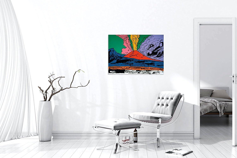 luxhomedecor Andy Warhol Vesuvius 70/x 50/cm Cadre Impression sur Panneau en Bois MDF Bord Noir