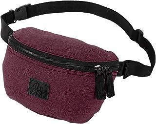 Rada Bauchtasche Damen und Herren, modische Hüfttasche, Gürteltasche, für Sport, Freizeit, Wandern, Mädchen und Jungen (grau schwarz)