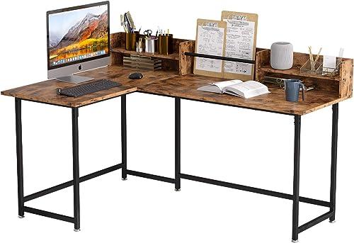 IRONCK L Shaped Desk Computer Corner Table 65.3″