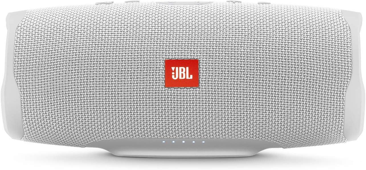 JBL Charge 4 Waterproof Portable Bluetooth Speaker- White (JBLCHARGE4WHTAM)