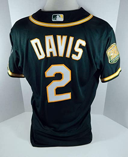 brand new 8893f 23177 2018 Oakland Athletics A's Khris Davis #2 Game Issued Green ...