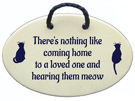 Amazon.com: Cat Pared Señal, No hay nada como Coming Home a ...