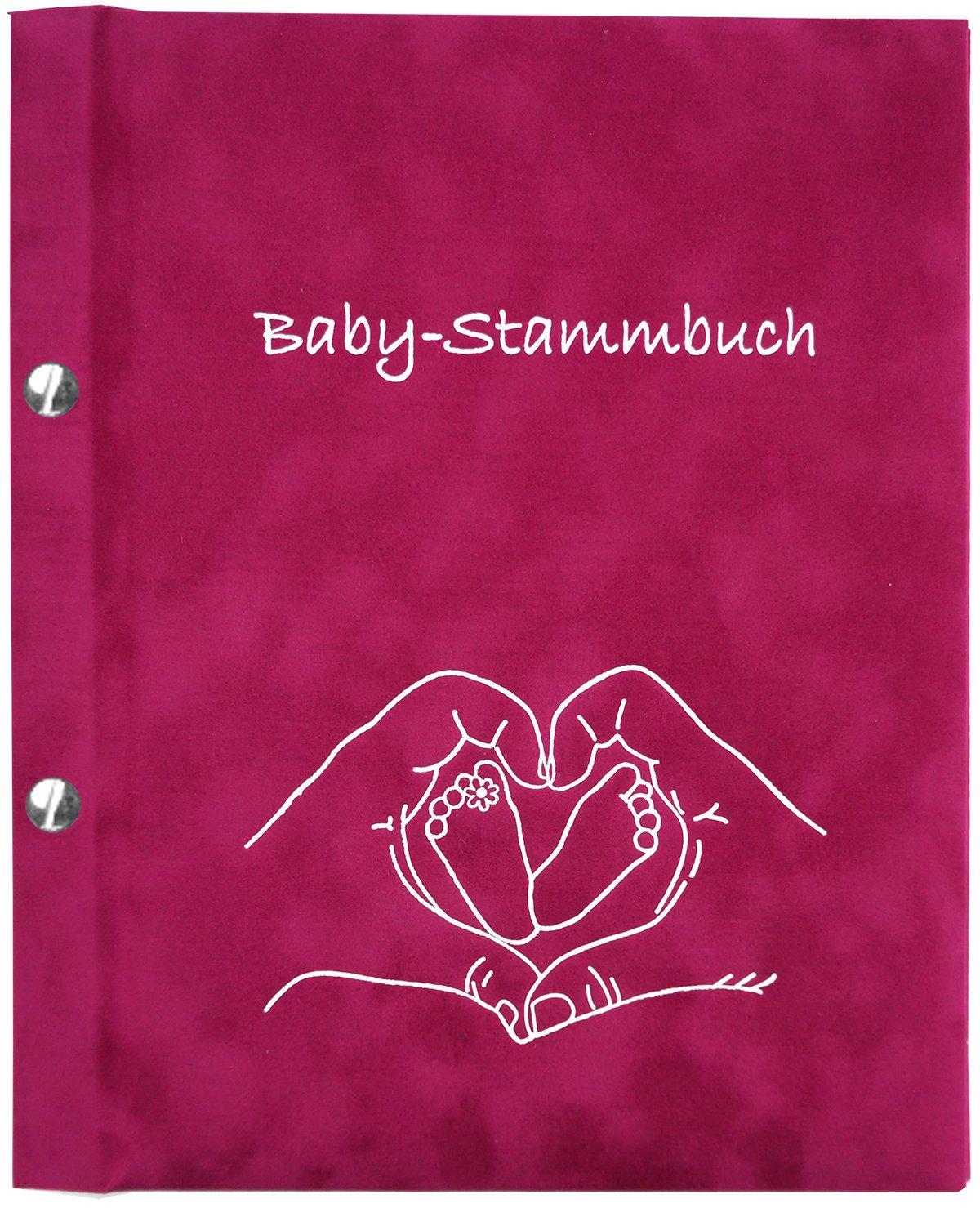 Baby-Stammbuch Paula, Geschenk zur Geburt, Mä dchen, pink Stammbuchverlag