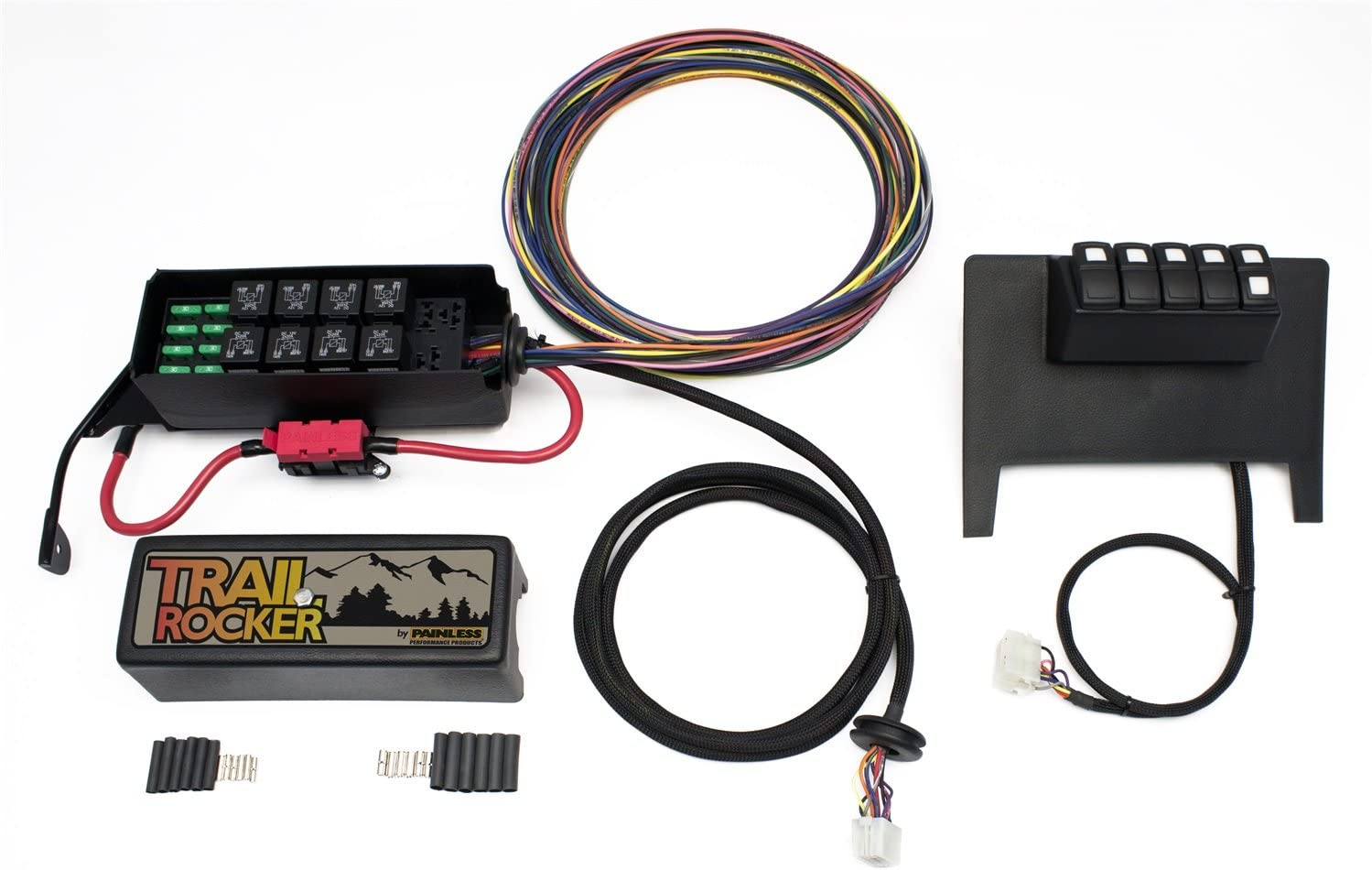 jeep wrangler fuse box clicking amazon com painless performance 57000 trail rocker system for  painless performance 57000 trail rocker