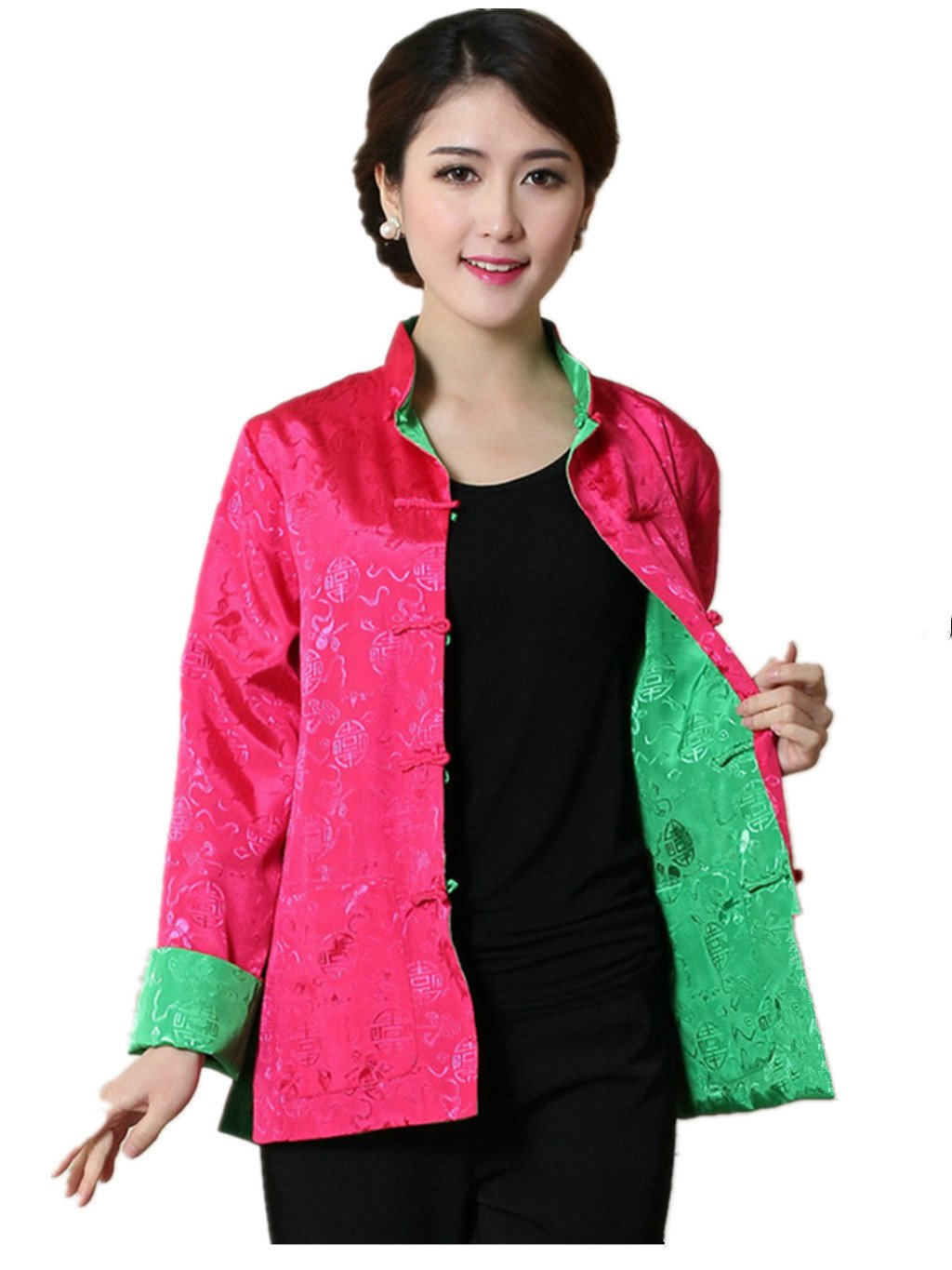 Womens Tang Suits Leisurewear Double-sided Wear Womens Coats Chinese Jackets
