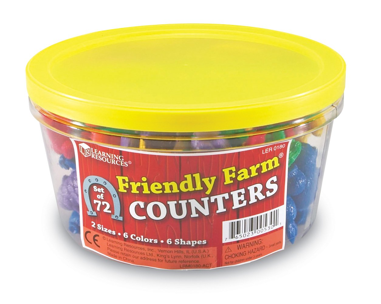 Learning Resources Friendly Farm Animal Counters (Set of 72) LER0180 Learning & Exploration Preschool Toys education