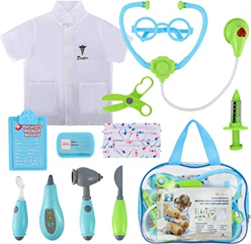 Amazon.com: Glonova - Kit de médico para niños, 12 piezas de ...