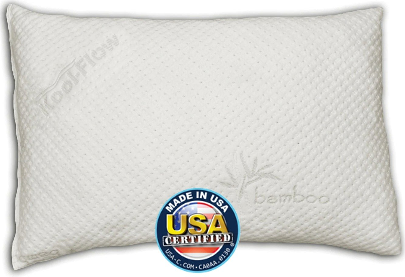 Best Pillow for Side Sleepers 2016 - nuggle-Pedic Bamboo Shredded Memory Foam Pillow