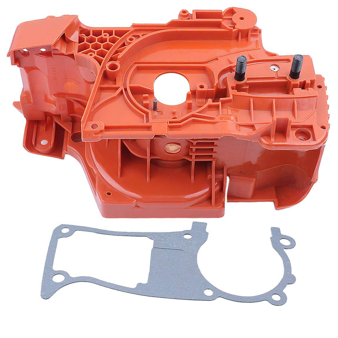 Haishine Engine Crankcase Crank Case w/Gasket for Husqvarna 350 345 340  Chainsaw Motor Parts #537172001
