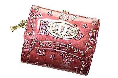 ae886583becf アナスイ ANNA SUI ハリーシリーズ 二つ折り がま口 ブランド 財布 /ラメ入ピンクパープル 箱