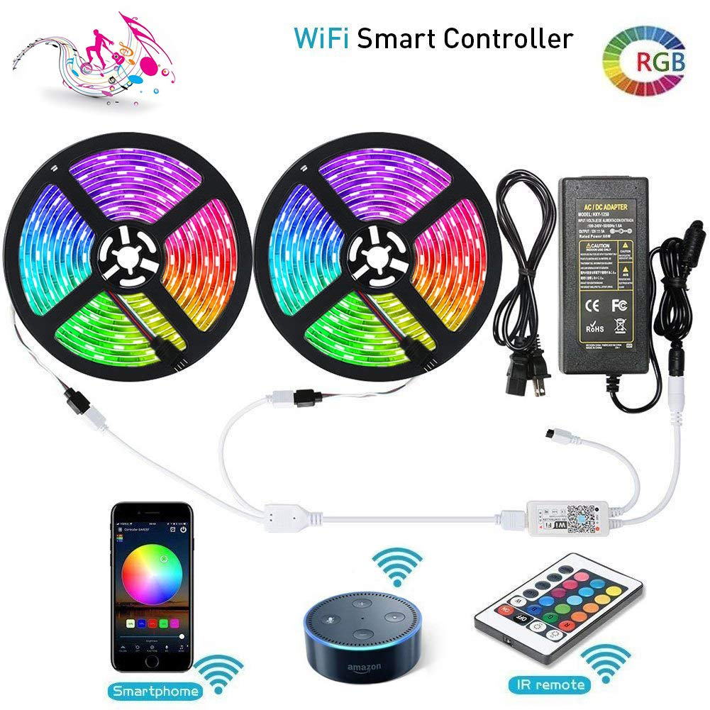 Wifi RGBW Controller APP for iOS Android 5M 5050 150//300LEDs SMD Strip Light