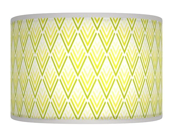 840045023d49 20 cm (20,3 cm) gelb grün Dreiecke Reto geometrisches Giclée-Stil ...