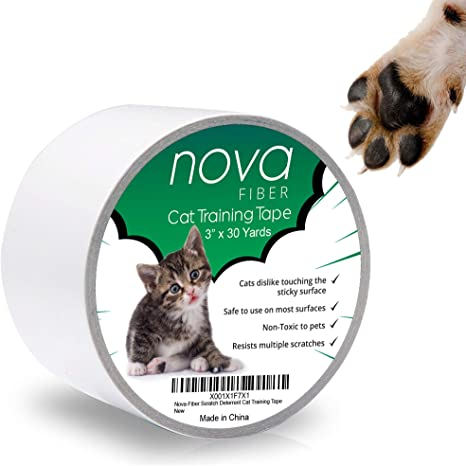 Nova Fiber Scratch Deterrent Cat Training Tape 3 Inch X 30 Yards Stop Your Pet From Scratching Furniture Chairs Sofas Textiles Bed Posts Etc Pet Supplies