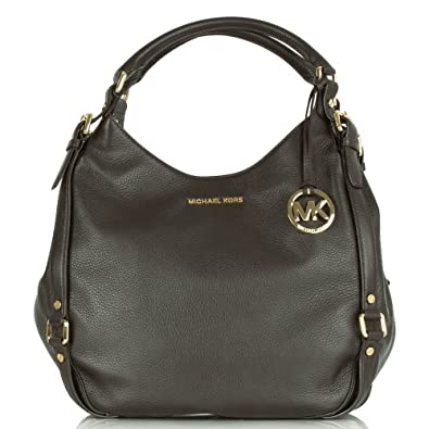 323bef7b5746 ... official michael kors bedford brown large tote womens shoulder bag  brown leather 057fa 39dbf ...