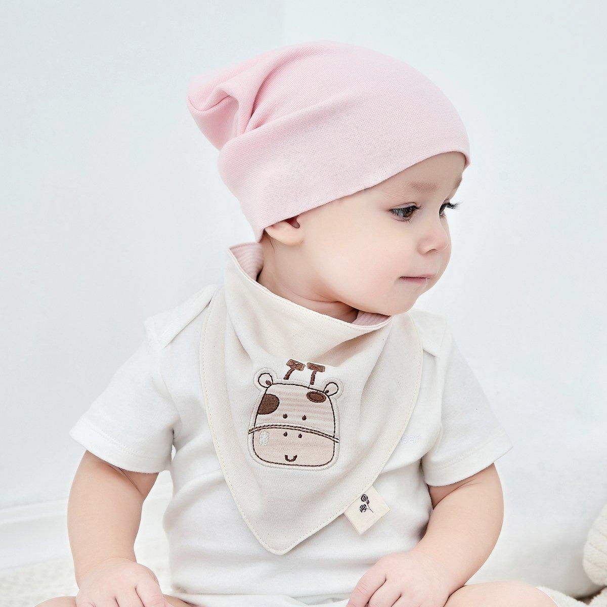 Neutral Organic Baby Bandana Drool Bibs for Boys and Girls 4 Pack