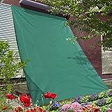 GROOVY OUTSTYLE オーニング シェード 195×300cm グリーン 撥水 バルコニー ベランダ ガーデン シェード 日よけ 目隠し シート プライバシー UVカット 簡単設置 ハトメ 6個 固定ロープ 付属 (グリーン)