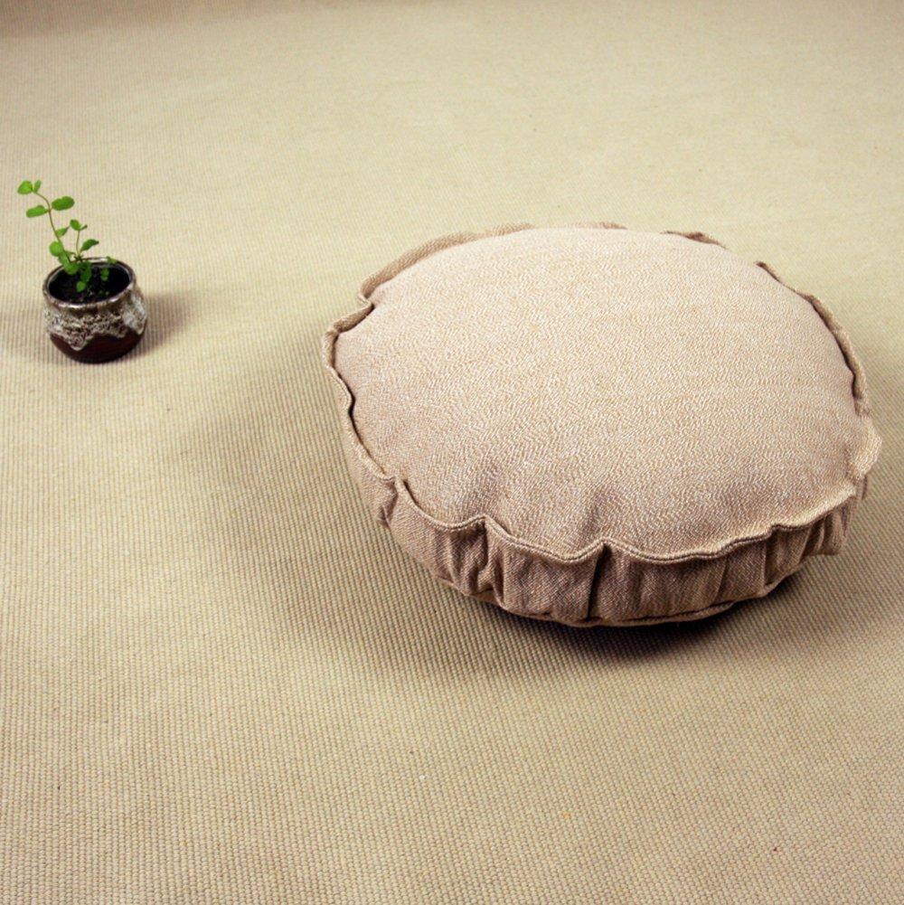 Aik@ Washable Floor cushions,Floor pillow Seating Pouf Breathable Living room Tatami Bay window Balcony -Round 19''x19''