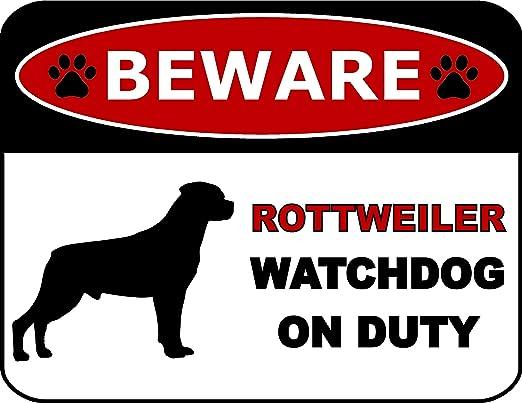 Warning Akita On Guard Aluminum Dog Sign and Sticker