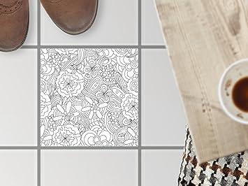 Fußboden fliesen dekoration design folie sticker aufkleber