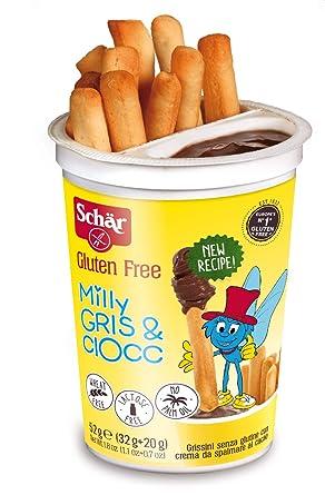 Dr. Schar Milly Gris & Ciocc - Palitos con chocolate SIN GLUTEN ...