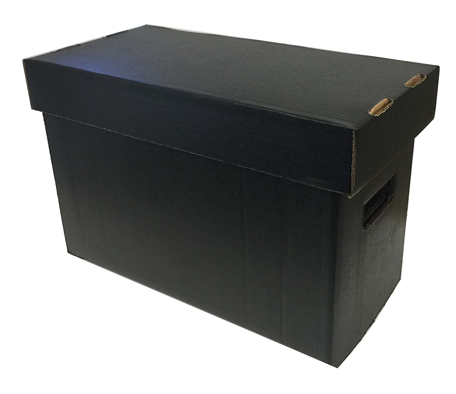 (5) Max Pro SHORT Colored Comic Storage Box - Holds 150 - 175 Comic Books - BLACK Max Protection