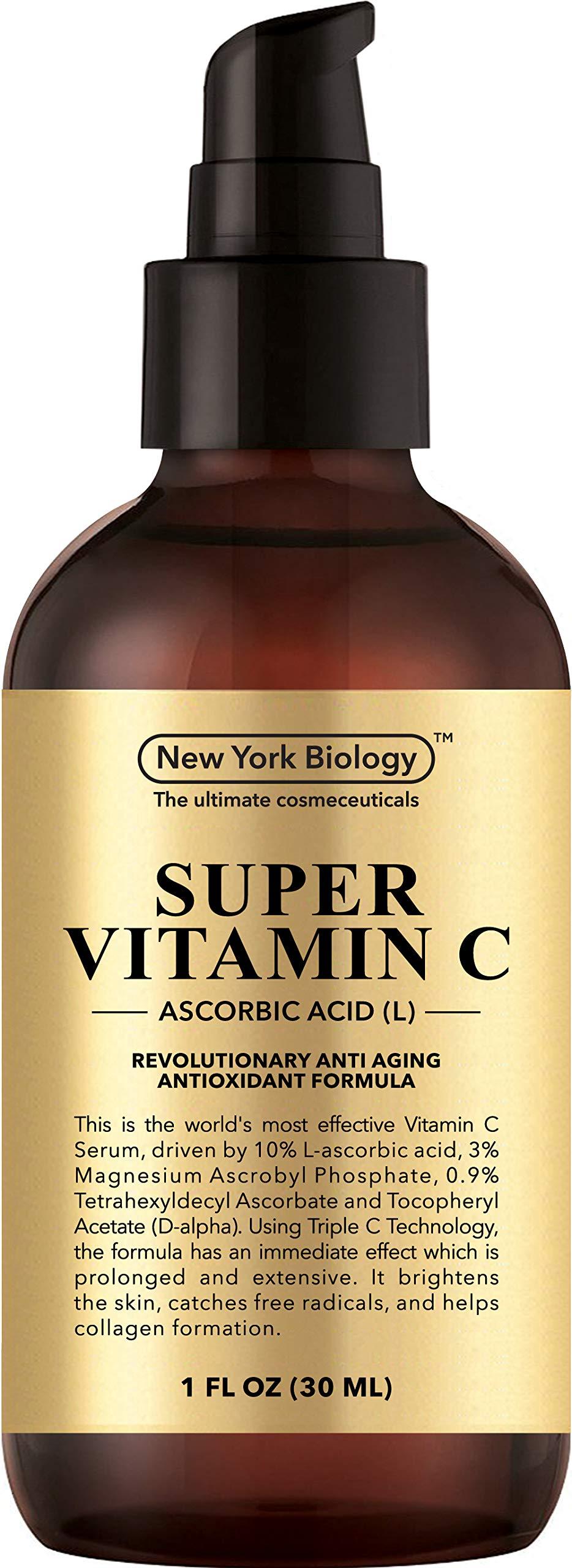 Super Vitamin C Serum for Face - 6X Stronger Than 20% Serum - Highest Professional Grade w/L Ascorbic Acid - 1 FL OZ