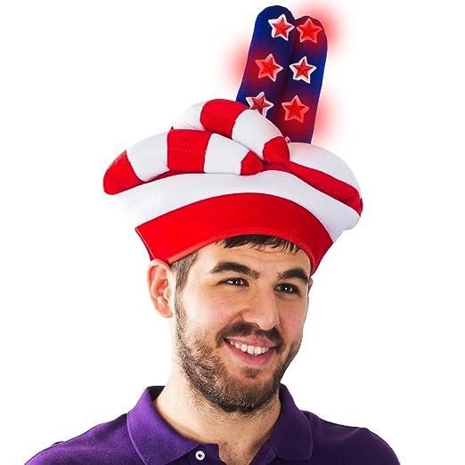 b7437b047dd Tigerdoe patriotic costume hat forth of july hats light up costume hats  patriotic costume american flag