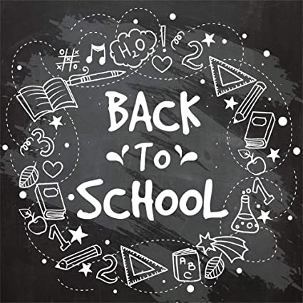 Back to School Life Doddle Wall Backdrop Polyester 8x6.5ft Chalk Drawing On The Blackboard Background Child Kids Baby Student Pupil Personal Portrait Shoot Wallpaper Studio Props Talent Show