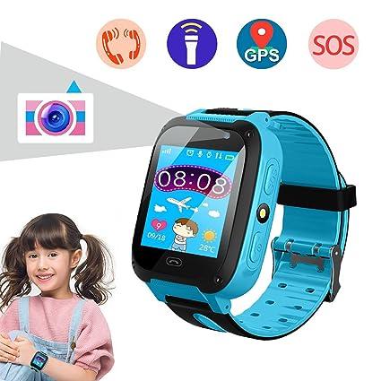 Amazon.com: Reloj inteligente para niños, reloj de teléfono ...